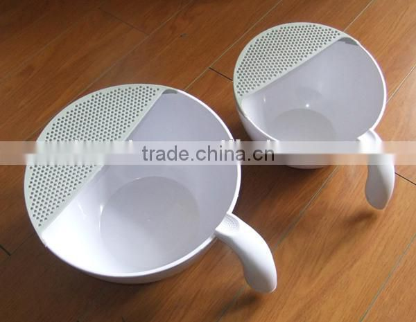 High quality plastic kitchen washing bowl with colander
