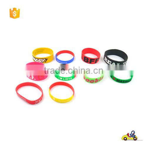 China factory direct sale Cheap promotional silicon wristband silicon bracelet/rubber bracelet