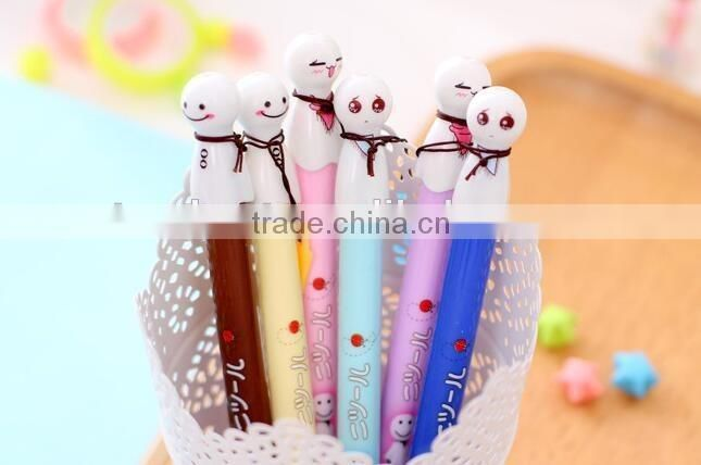 0.38mm Cute Expressions Snowman Gel Pen Ink Marker Pen School Office Supply Escolar Papelaria