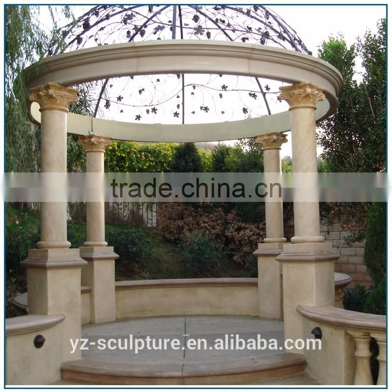 Customized hand carved white beautiful large outdoor marble gazebo