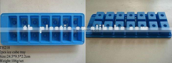2pcs ice 14 part cube tray plastic ice maker