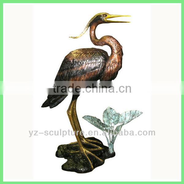 outdoor decorative bronze bird water fountain for sale