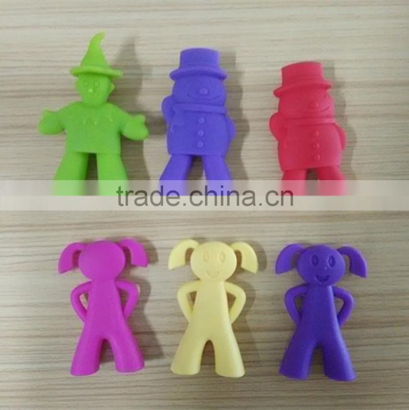 high quality clown -shaped silicone chopsticks holder