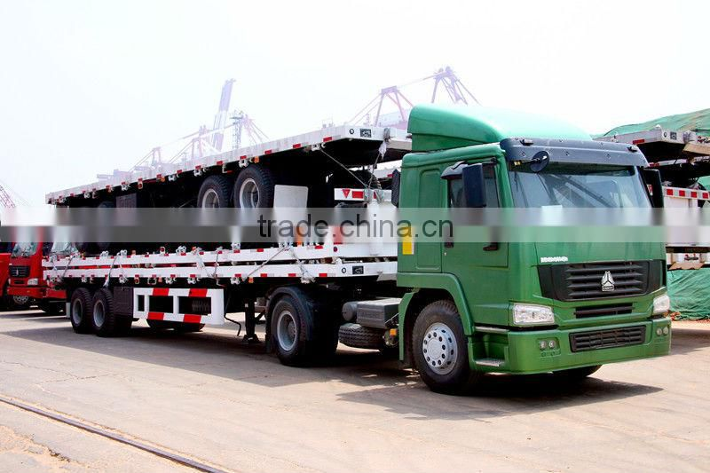 Sinotruk best selling 3 axle low bed Semi-trailer price