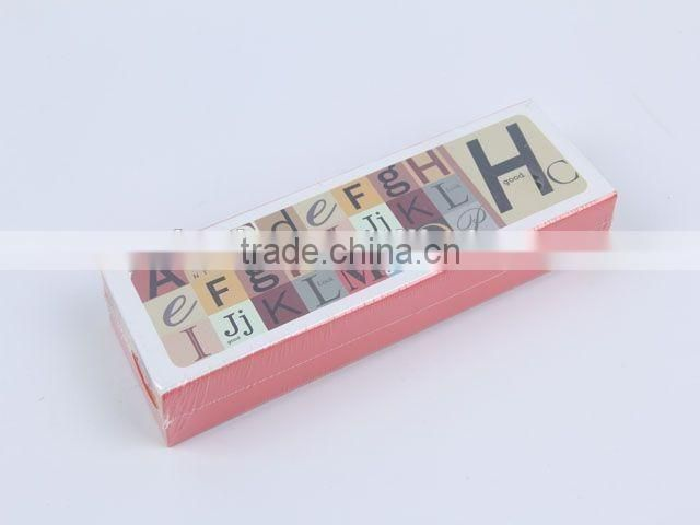 Rectangular single-layer printed paper pencil box colorful pencil case