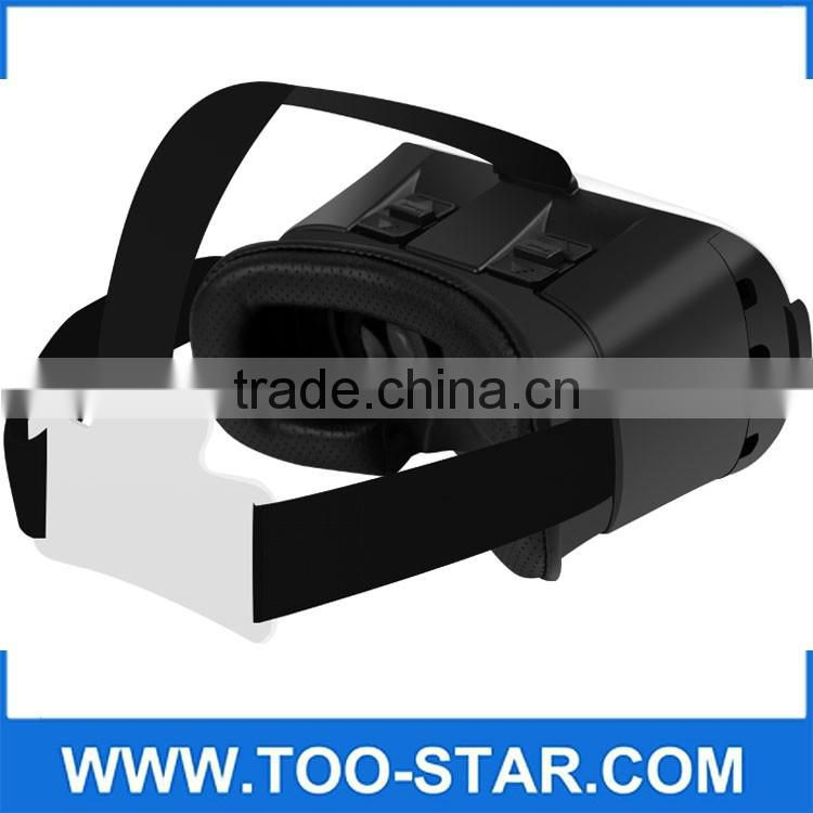 The New Designed Virtual Reality High-definition screens 3D Video Glasses Box Helmet for Movies