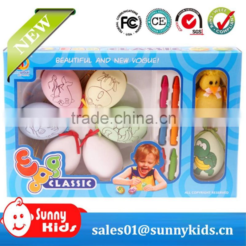Easter painted egg shell for kids Children creative painting toys