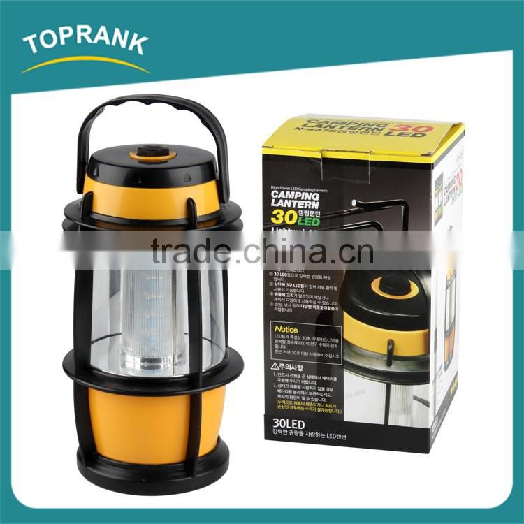 High quality outdoor portable super bright high power 30 led camping lantern