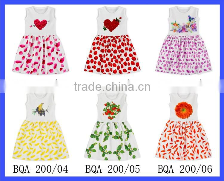 2017 new simple baby frock design boutique fancy baby girl dresses