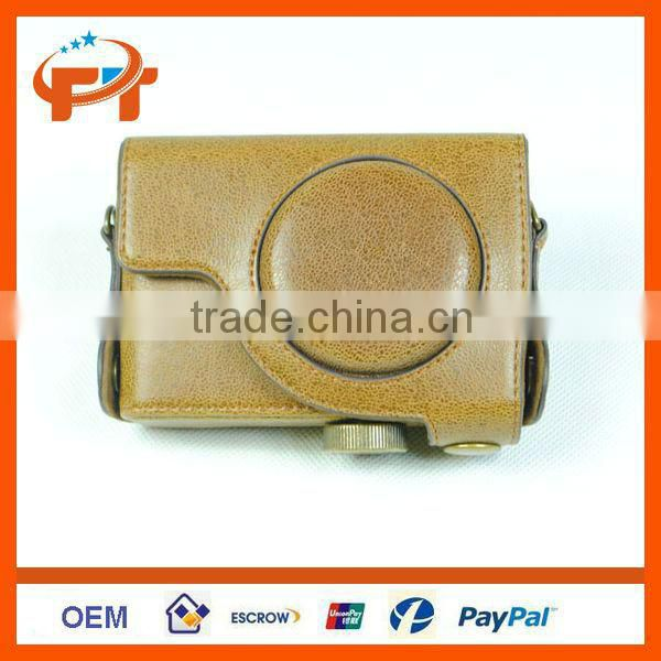 Leather camera case for Canon Powershot S110 S100