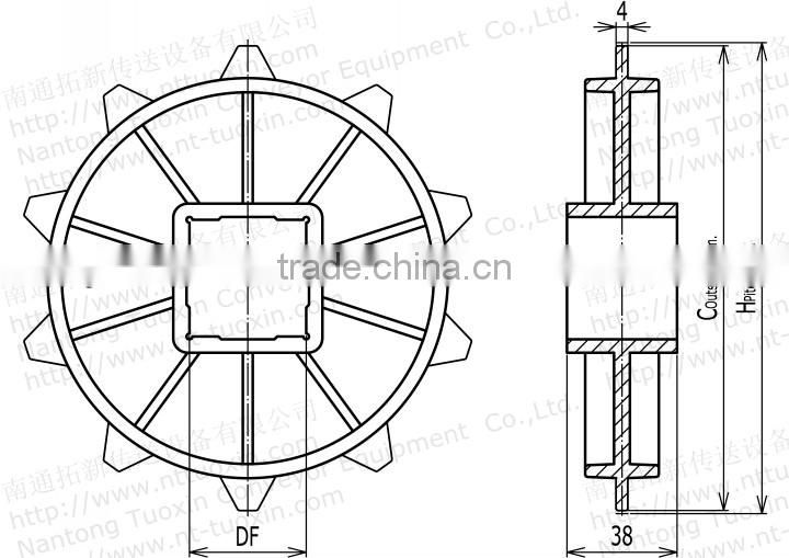 Classic Injection Moulded Plastic Sprocket for Conveyor