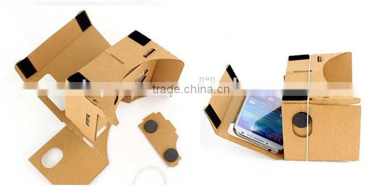 Best selling cheap price factory direct sale DIY Google cardboard VR BOX 3D Glasses