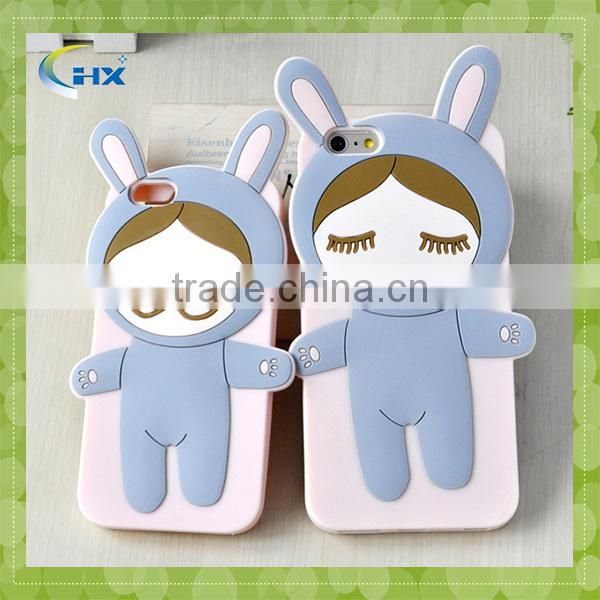 Factory price cute 3D Rinka doll soft silicone 5.5 inch mobile phone case