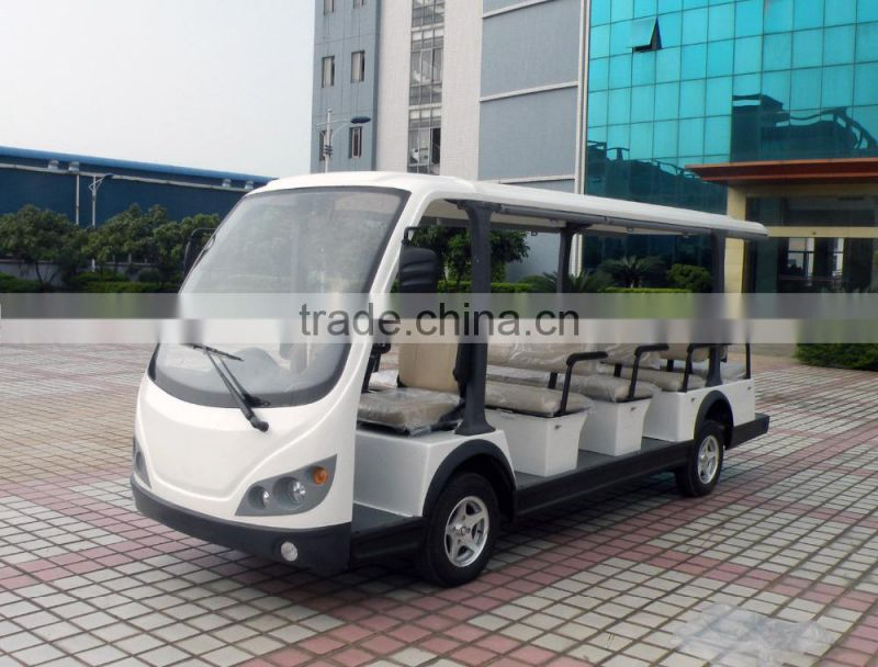 Popular elegant appearance battery operated tourist car electric mini bus