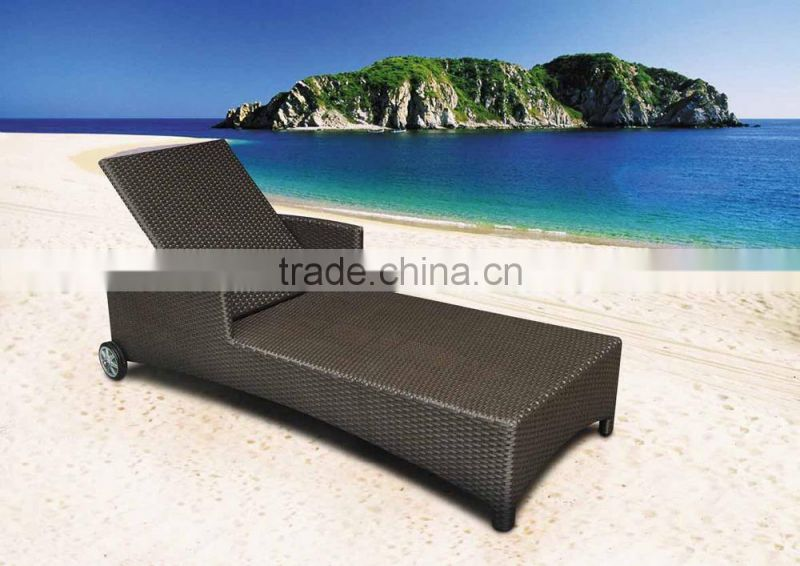Outdoor Beach Leisure Sunbed Sun Lounger Chaise Lounge Chair