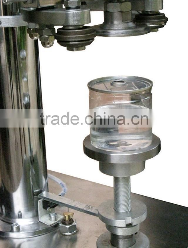 Semi-automatic tin can capping machine for small scale