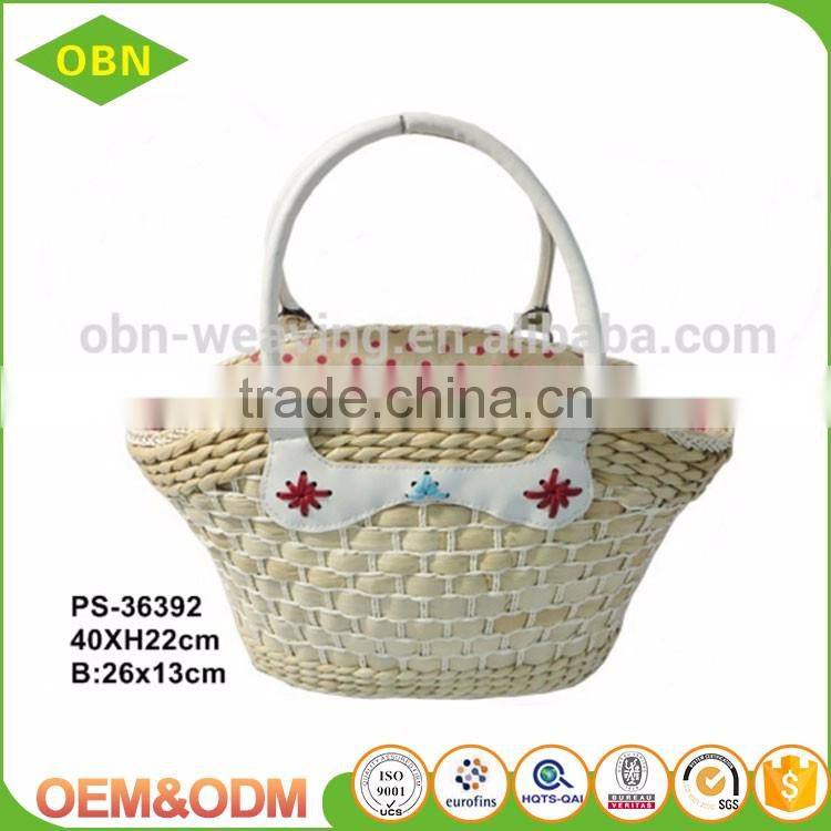Ladies summer beach designer straw handbag
