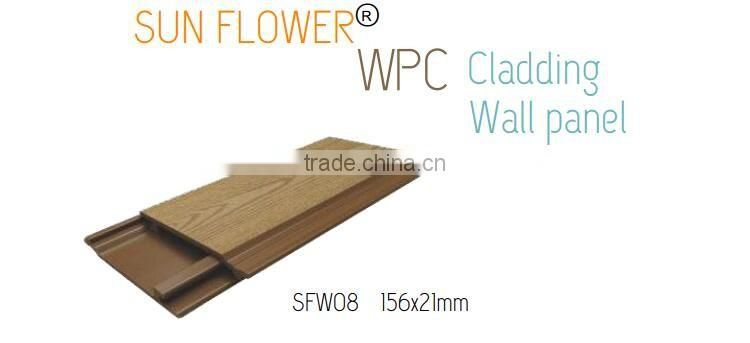 Exterior waterproof WPC Wood plastic composite wall panels wpc wall cladding