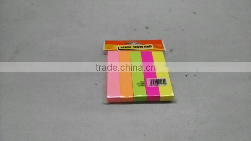 100 sheet 4 color assort plastic PET sticky note