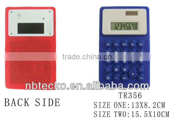 Good selling 8 digits solar and battery silicone calculator