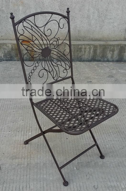 Metal luxury dining chair