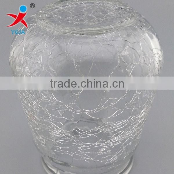 ce crack glass ball hydroponic bottle/cold glass cutting glass lamp shade