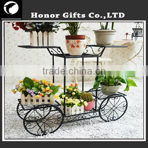 Indoor Outdoor Garden Metal Wire Flower Pot Plant Stand Wrought Iron Plant Stands