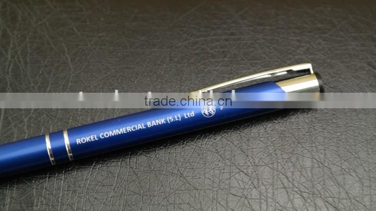 Colorful metal ball pen , promotional ballpoint gel pen