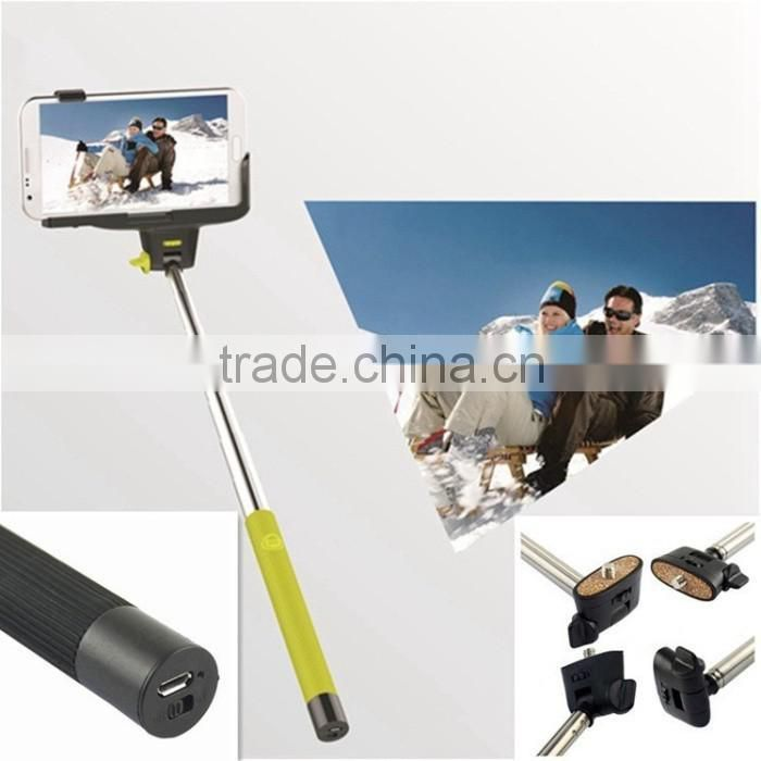 2014 factory price Z07-5 Portable Handheld Self-Timer Monopod for smart phone , be campatible for android and ISO