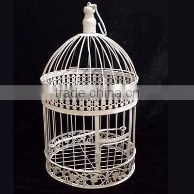gold plated tea light candle bird cage