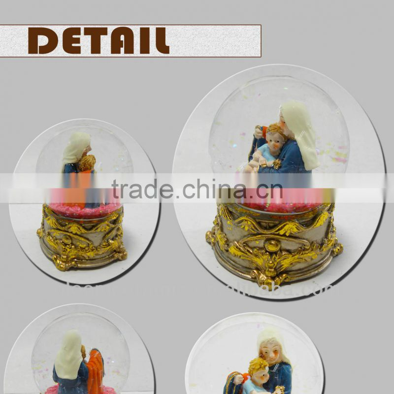Cute promotion religious water globes