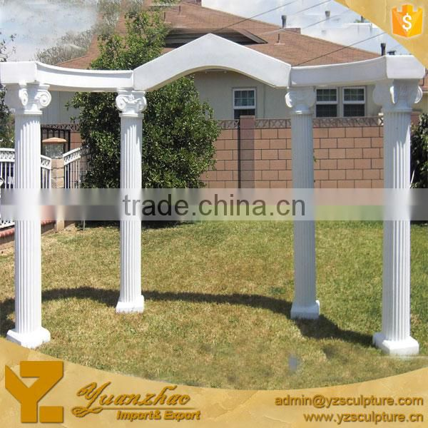 outdoor decorative white marble roman columns for wedding