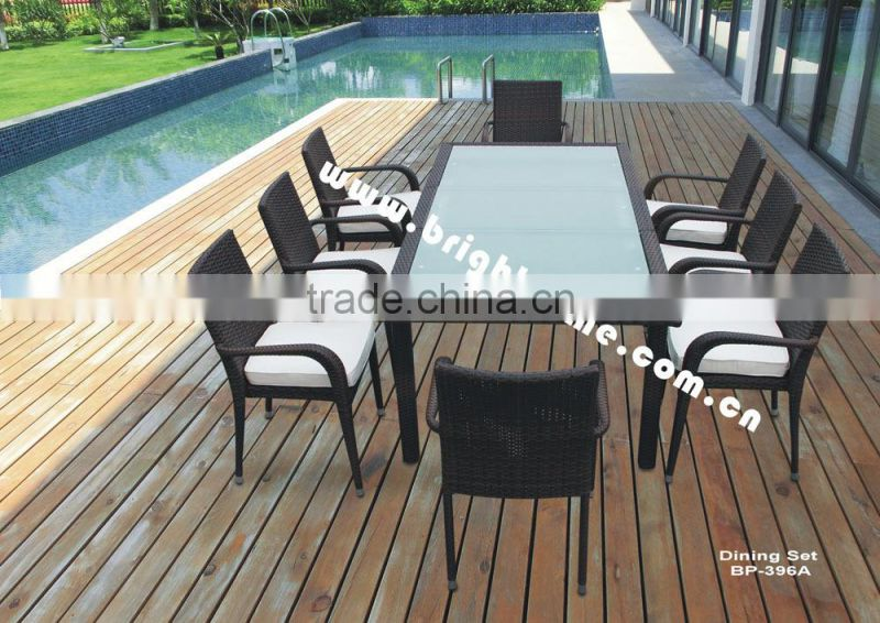 Aluminum Aluminium Dining Rattan Outdoor Garden Furniture