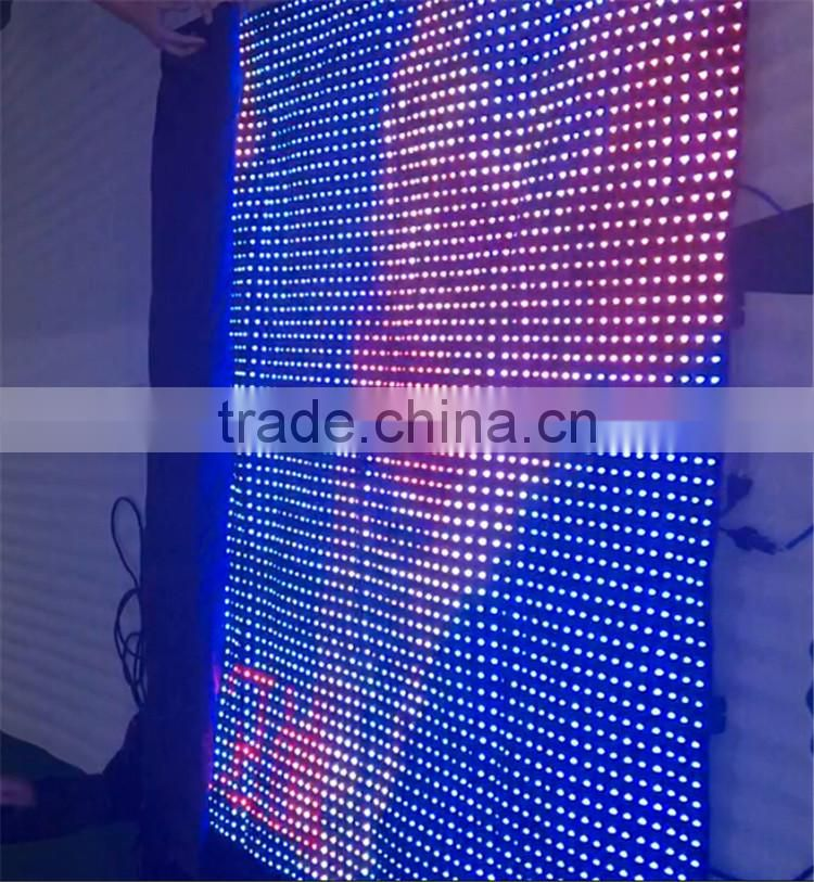 Soft p25 mm china sexy video curtain led display wall hot video