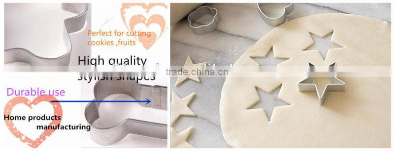 3pcs Set Halloween Stainless Steel Coated Cookie Cutters ,Tool in Red Yellow and Green