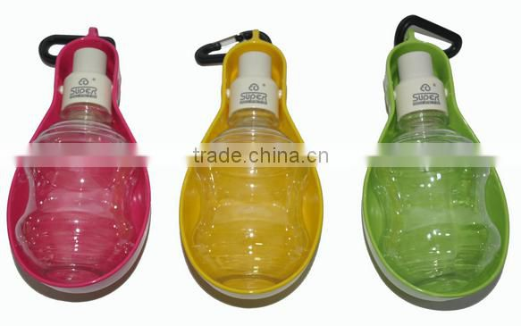 Pet Dog Water Dispenser Fountain Drinking Puppy Bulb Type Bowl Bottle With Keychain