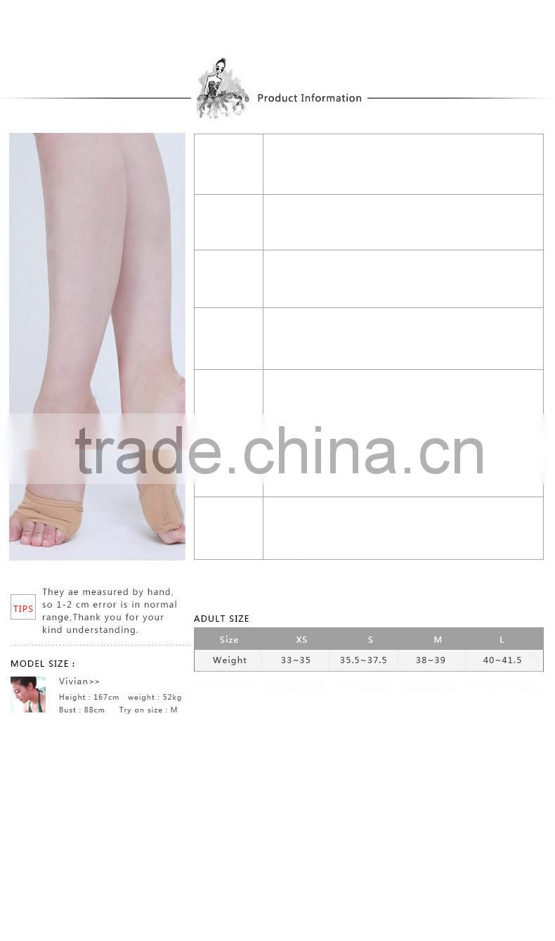 D017001 leather lyrical half sole shoe for modern dance shoes