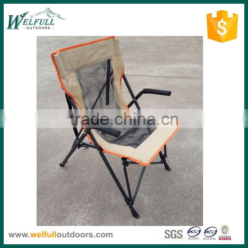 Luxury good quality folding steel camping chair