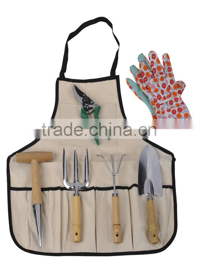 7pcs garden tools set with apron