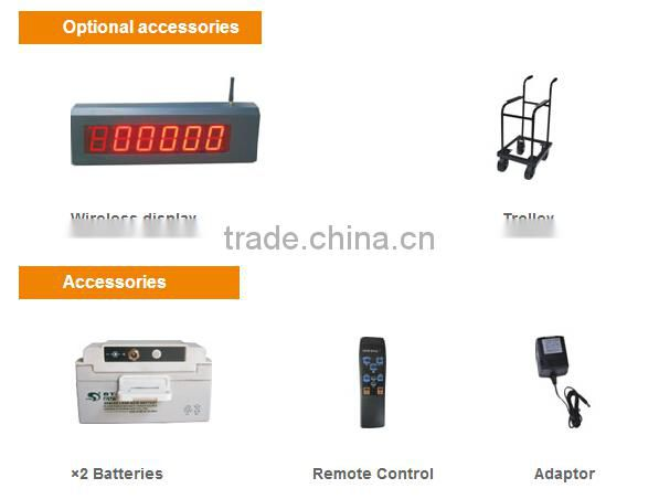 Wireless ocs crane scale with 0.5kg division and remote control