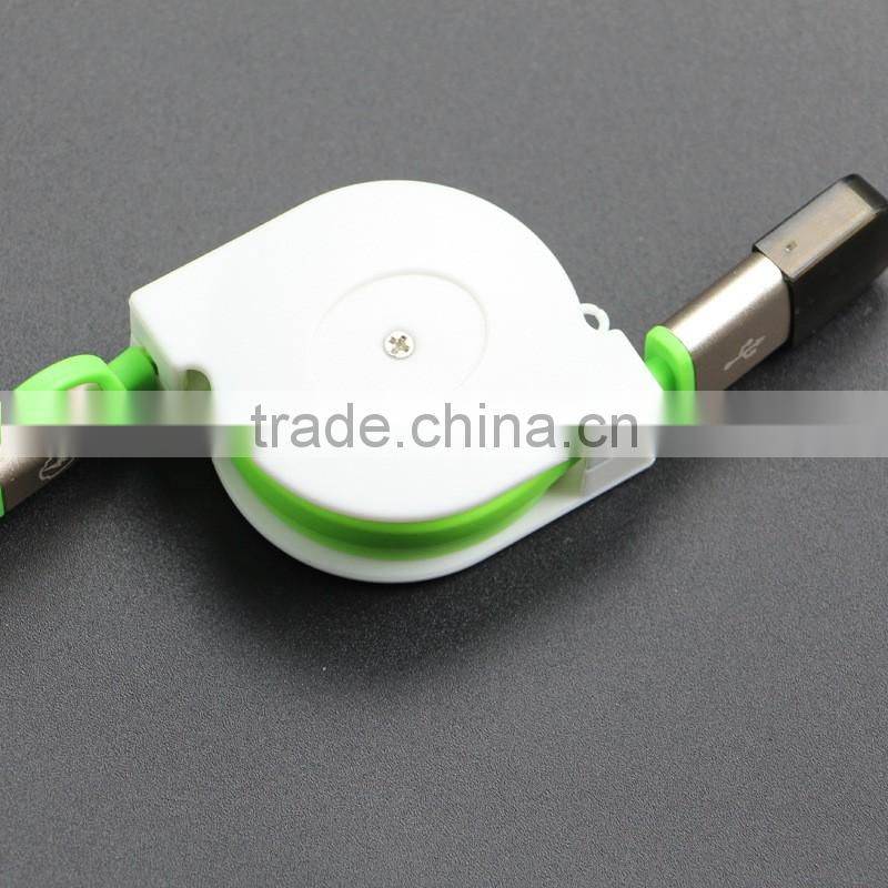 2in1 Retractable Universal Android&iOS Light to USB Charging Cord Tangle-free Charger
