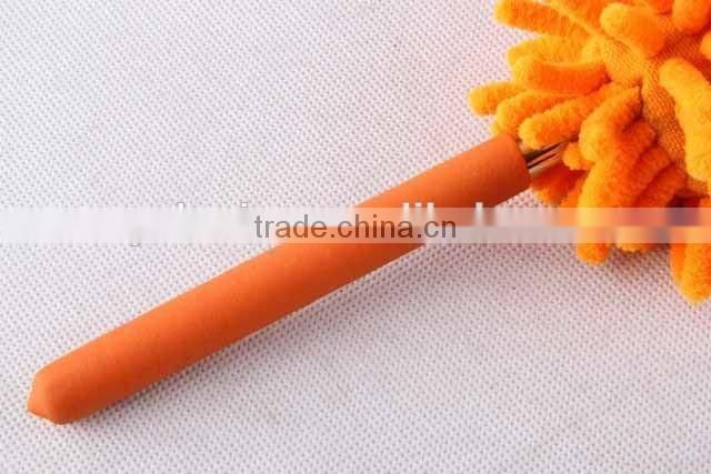 duster with retractable stainless steel rod/Chenille duster