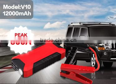12 volt Lithium battery car jump starter booster 12000mah 600 amp car jump start for emergency jumping DIESEL cars
