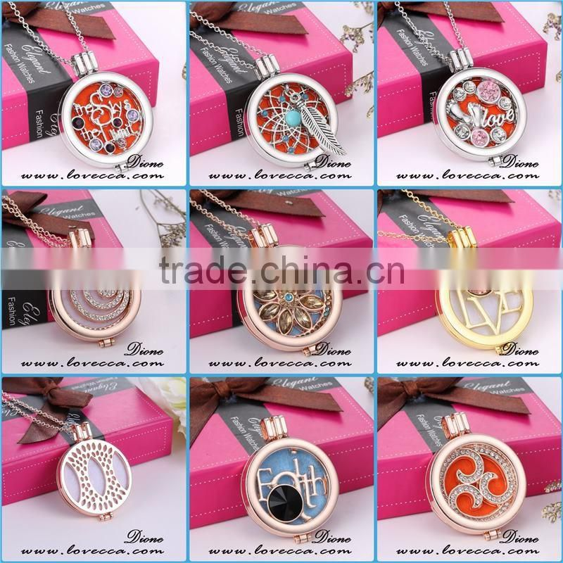 Deer pattern necklace fragrance diffuser locket essential oil