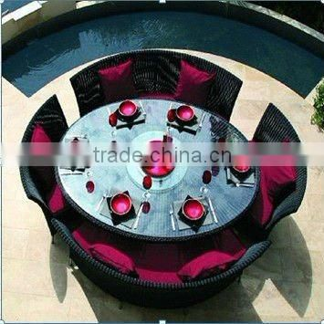 8 person round table dining set