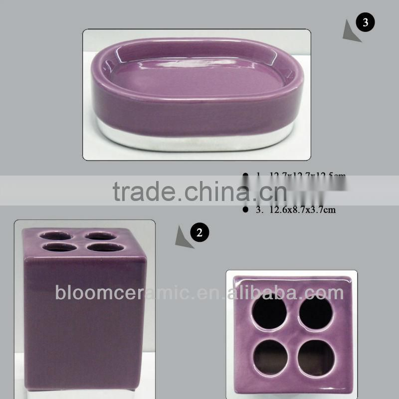 Ceramic bath sets and accessories
