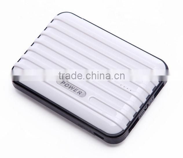 Fashionable suitcase power bank 11200mAh for mobile phone and tablet