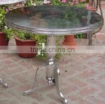 copper hammered antique metal centerpiece table