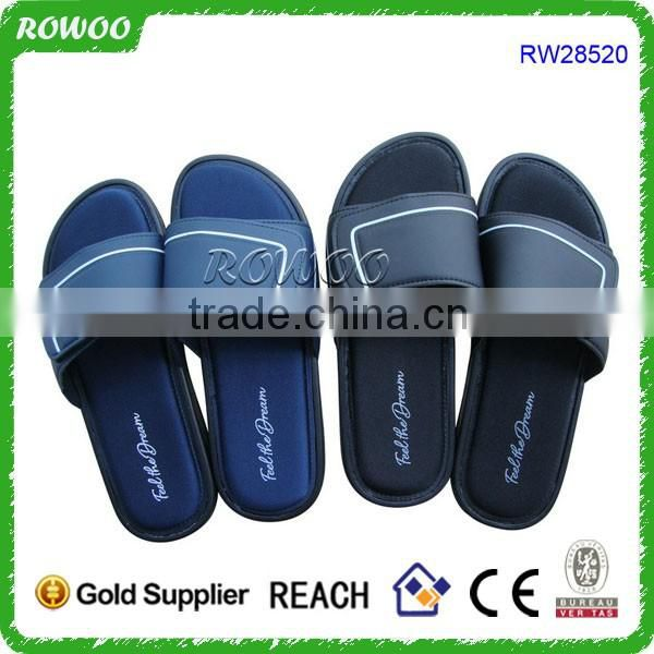 High Quality Memory foam bedroom Slippers Custom Designs Mens Slide Sandals