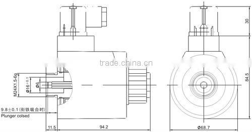 Hydraulic 24VDC & wet-pin type electromagnetic actuator
